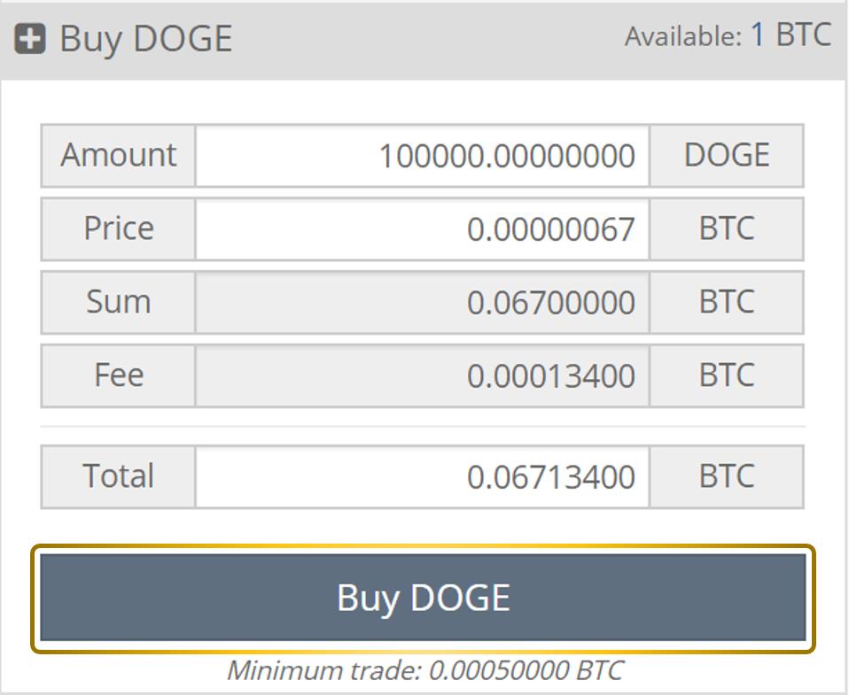 Comprar DOGE Cryptopia