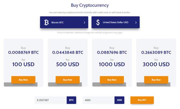 Kryptowährung kaufen mit Coinmama