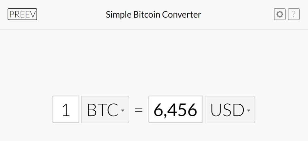 Bitcoin calculators - preev