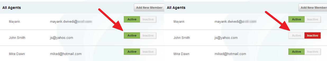 active inactive