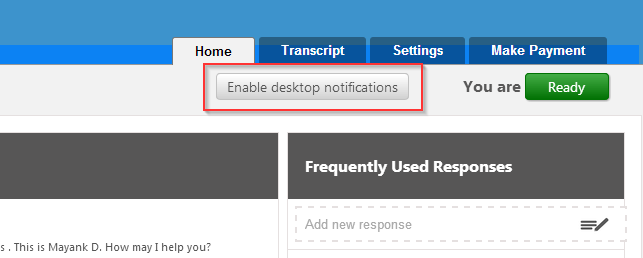 enable desktop notification button - conversion support
