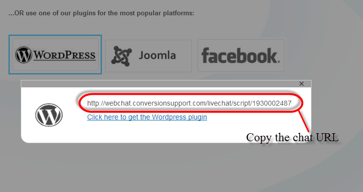 copy the chat url conversion support - wordpress