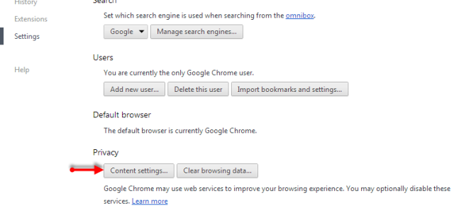 Content Settings - Chrome Browser - Conversion Support Online Chat
