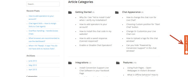 Conversion Support online chat wordpress on page plugin