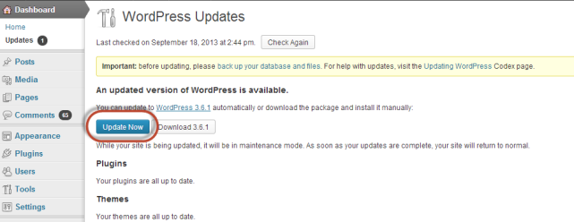 Update now - WordPress - Conversion Support online chat plugin