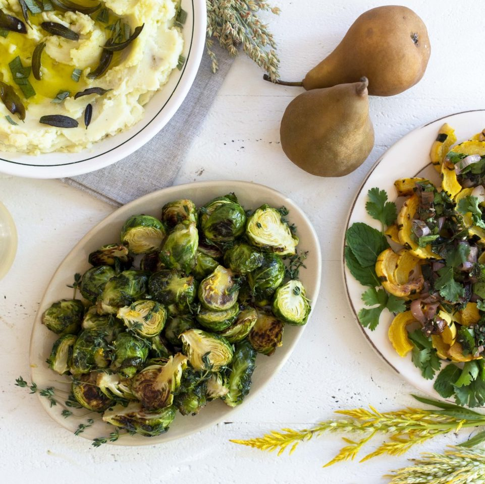 Three unique and delicious recipe ideas to use our Limited Reserve extra virgin olive oil for mashed potatoes, brussel sprouts, and delicata squash