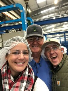 Bob, Mary, and our Director of Mill & Tank Farm Operations Logan