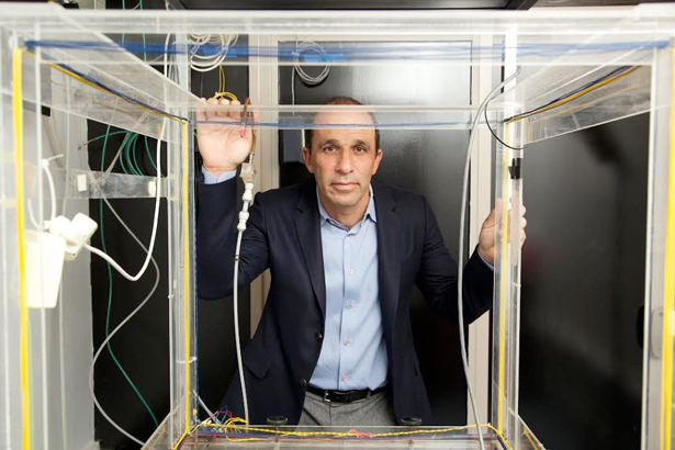 Paul Glimcher, a neuroscientist at NYU, has developed a model for how we make economic decisions and why we sometimes make poor ones. He's shown here with a device that tracks eye movement, which scientists use to study decision-making in animals.