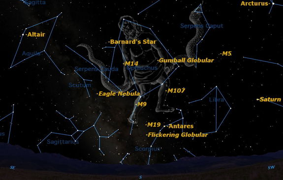 Ophiuchus Star Map