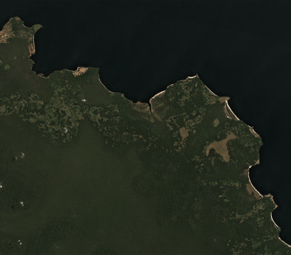 A small portion of the Mai Ndombe REDD+ Project lands along Mai Ndombe Lake, imaged by a Dove satellite in Low Earth Orbit