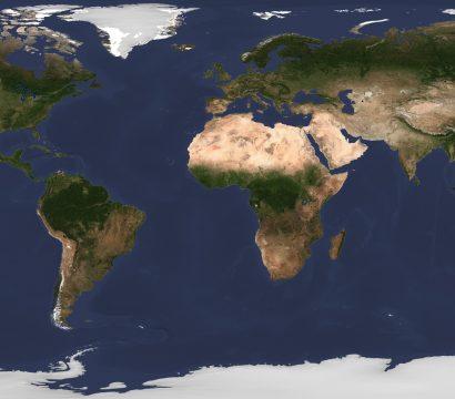 Summer seasonal mosaic of the globe