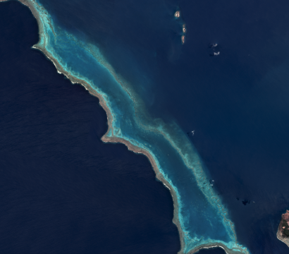 A portion of the reef surrounding New Caledonia