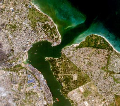 SkySat image of Dar es Salaam, Tanzania