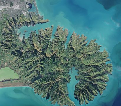 RapidEye image of Akaroa, New Zealand