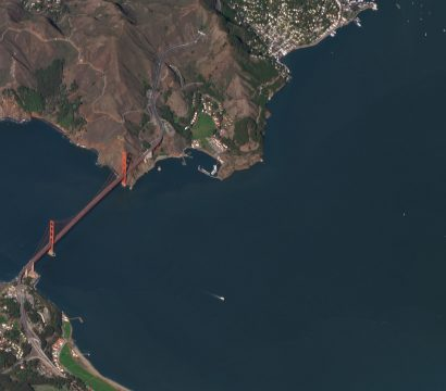 Planet SkySat shot of the Golden Gate Bridge in San Francisco, California ©