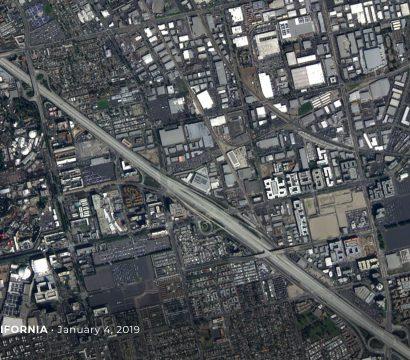 Dove satellite image of Anaheim, California