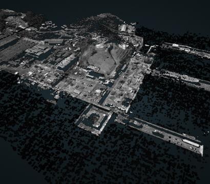 2D image of a 3D shipyard // Credit: Kayrros