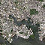 satellite image of Baltimore Maryland