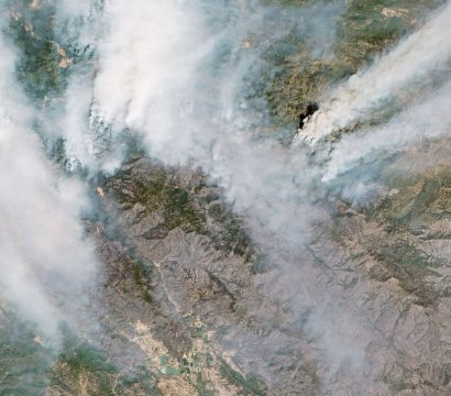 Ranch fire, Mendocino, CA, August 2018 © 2019, Planet Labs Inc. All Rights Reserved.