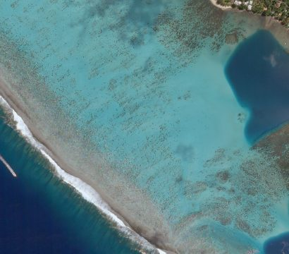 Planet Skysat imagery of Mo'orea, a South Pacific island, part of French Polynesia's Society Islands archipelago on March 22, 2018 © 2018, Planet Labs Inc. All Rights Reserved.