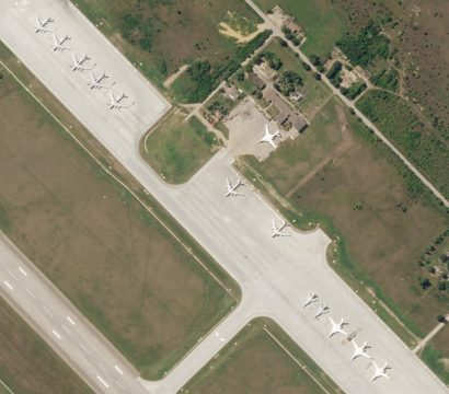 Bombers stationed at Engels Air Base, Russia captured by a Planet SkySat on August 1, 2019 © 2019, Planet Labs Inc. All Rights Reserved.