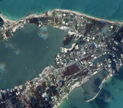 Satellite image of Marsh Harbour after being struck by Hurricane Dorian © 2019, Planet Labs Inc. All Rights Reserved.