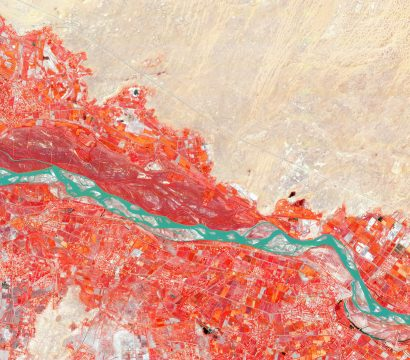 Next Generation PlanetScope data includes more bands, which can help in the study of plant health; it also helps to unlock the potential for advanced analytics. // Imagery of Amu Darya, Uzbekistan on September 30, 2019 © 2019, Planet Labs Inc. All Rights Reserved.