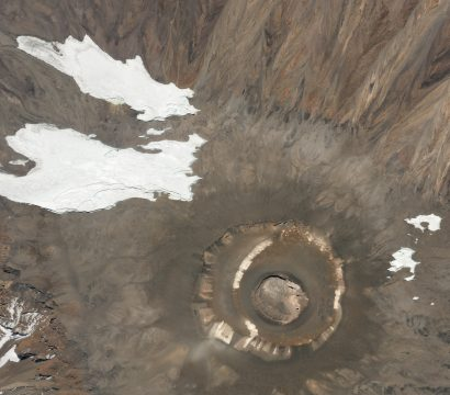 Planet's high-resolution data helps NASA researchers investigate key climate indicators like the size and range of alpine glaciers. This image of the summit of Kilimanjaro was collected on August 13, 2019. © 2019, Planet Labs Inc. All Rights Reserved.