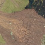 This SkySat image collected on July 19, 2018, shows a portion of the Fagraskogarfjall landslide, one of the largest in Iceland's recent history. © 2018, Planet Labs Inc. All Rights Reserved.