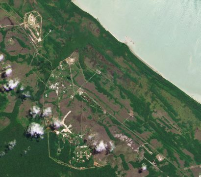 A wide area PlanetScope view of Guiana Space Centre, collected on July 30, 2019. © 2019, Planet Labs Inc. All Rights Reserved.