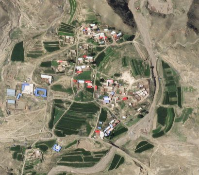 SkySat 18 saw the village of Xiguanjing, China and the hills of Inner Mongolia when it first observed Earth on July 18, 2020. © 2020, Planet Labs Inc. All Rights Reserved.