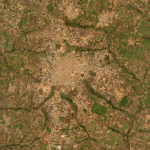 SkySat basemap of croplands surrounding Tchamba, Togo © 2020, Planet Labs Inc. All Rights Reserved.