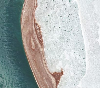 Sea Ice in the Tyuleniy Archipelago, a small group of islands in the Caspian Sea, captured by PlanetScope on December 6, 2020 © 2020, Planet Labs Inc. All Rights Reserved.