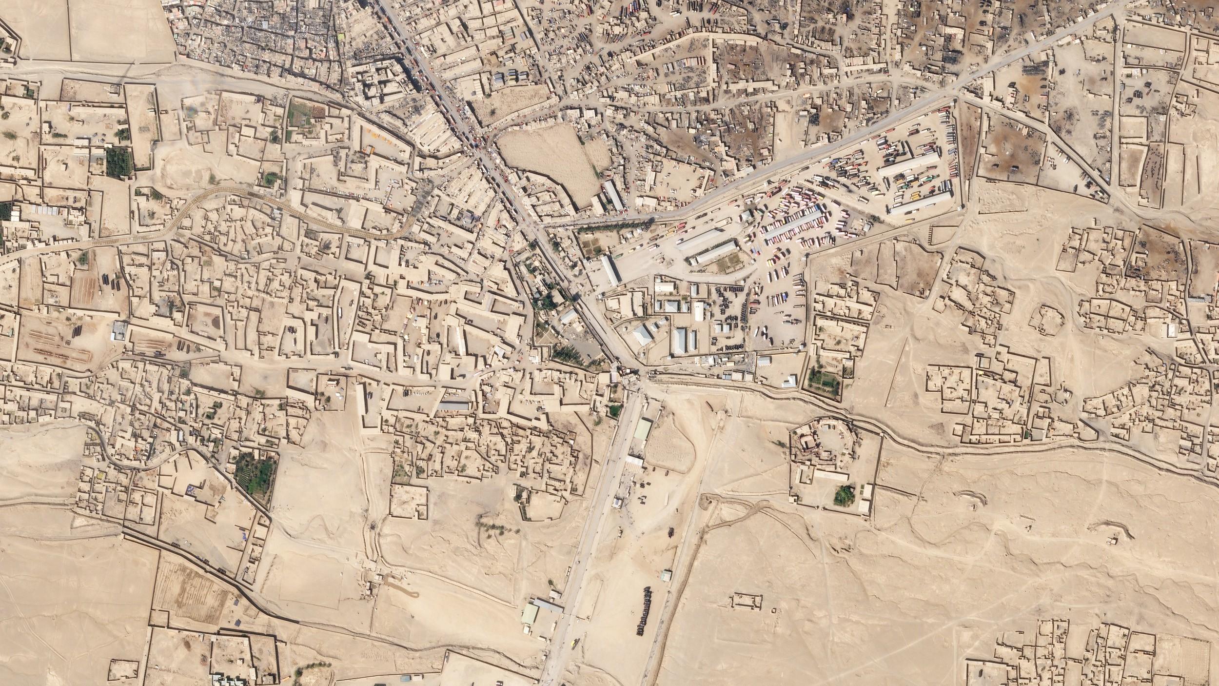 Spin Boldak, una ciudad de Afganistán.  © 2018, Planet Labs Inc.  todos los derechos son salvos.