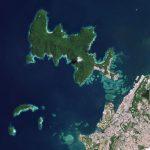 Planetscope Image展示了Tunku Abdul Rahman国家公园和附近的Kota Kinabalu岛,在马来西亚的婆罗洲部分。©2021,Planet Labs Inc.保留所有权利。