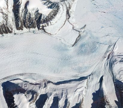 PlanetScope imagery shows the tongue of the Kista Dan Glacier in Eastern Greenland on May 3, 2021. © 2021, Planet Labs Inc. All Rights Reserved.