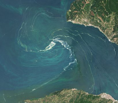PlanetScope imagery of captures phytoplankton in the Sea of Marmara, Turkey. © 2021, Planet Labs Inc. All Rights Reserved.