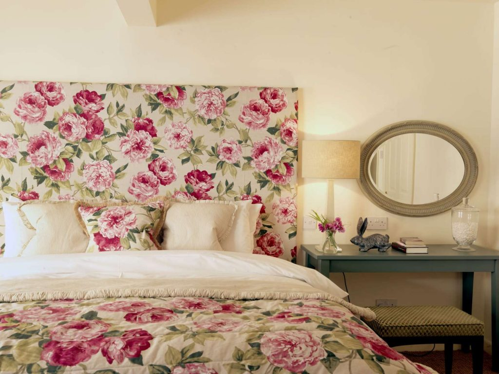 Hare and Hounds floral bedroom
