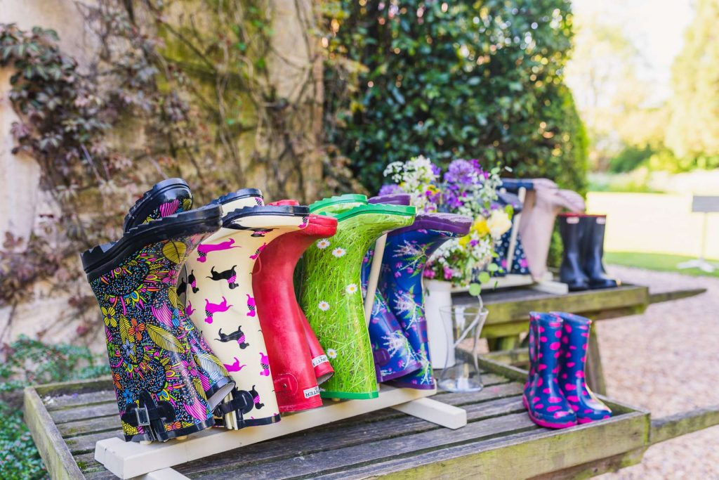 Bright Wellies at Barnsley House