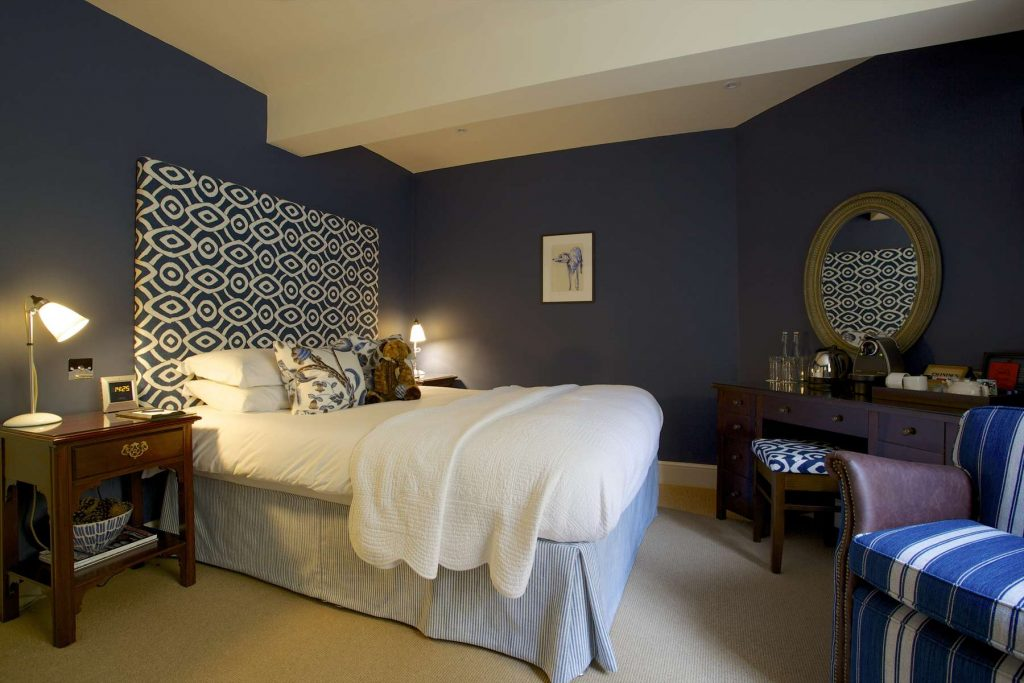 The Swan Blue bedroom