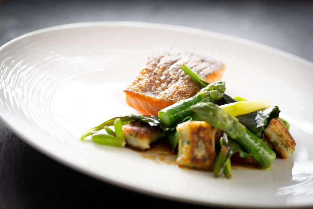 The Painswick salmon dish