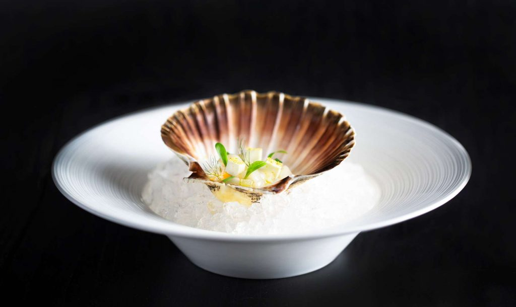 Scallops at Lords of the Manor
