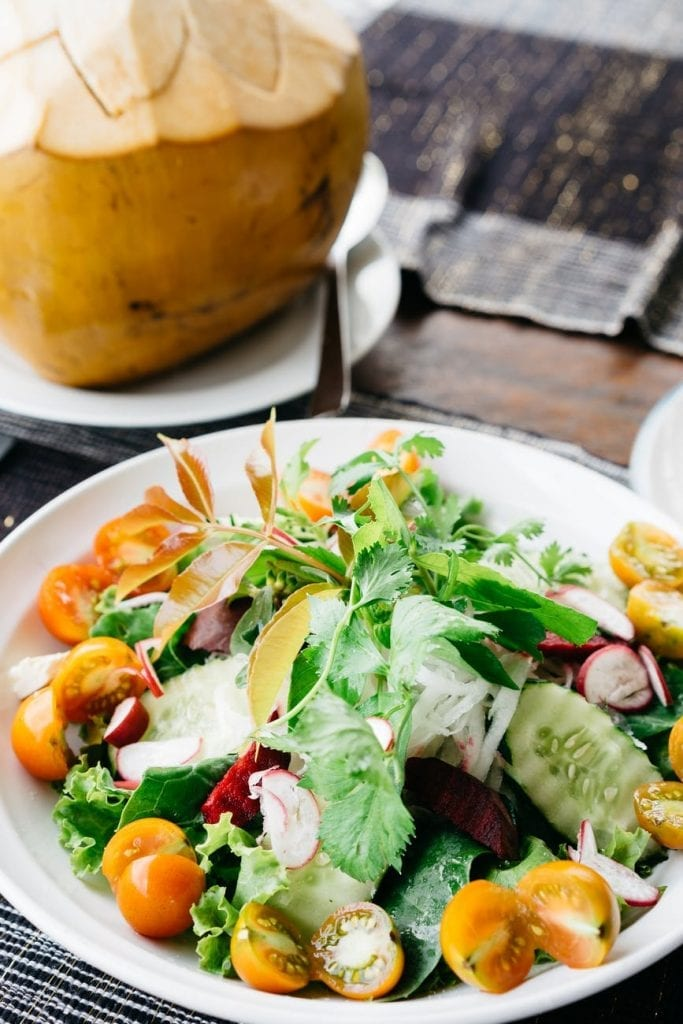 Have salad during Blueprint Cleanse instead of coffee