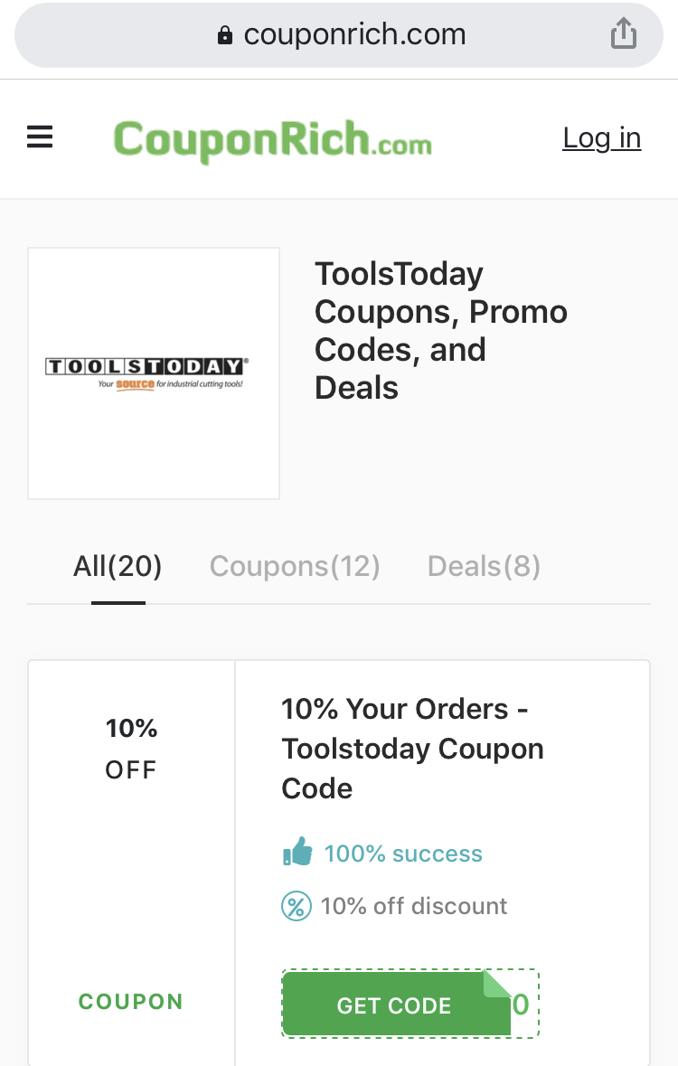 Toolstoday coupon