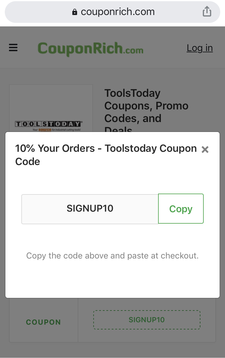 Toolstoday coupon code