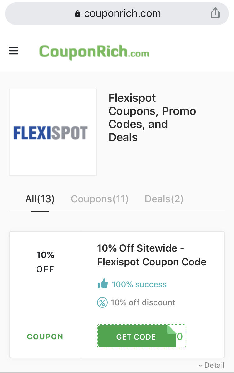 flexispot coupon