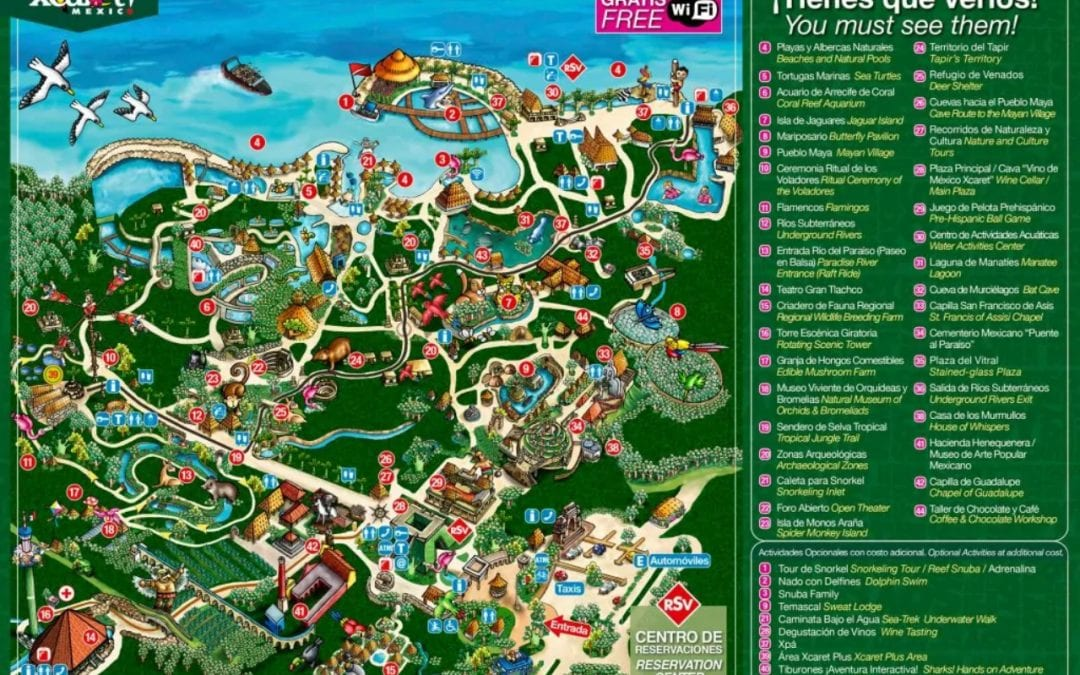 Xcaret park map: How to avoid getting lost!