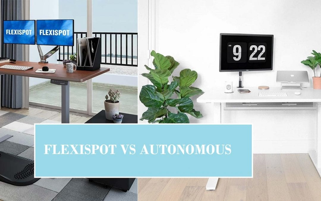 Side-by-side comparison of FlexiSpot vs Autonomous
