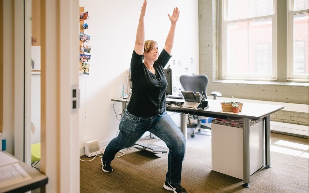 5 simple Flexispot standing desk workouts for office workers