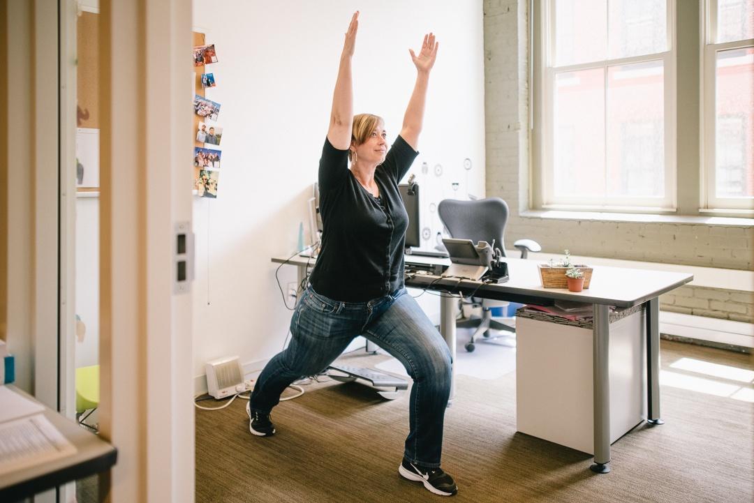 flexispot standing desk workout